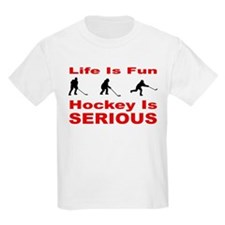 Hockey is Serious Kids T-Shirt