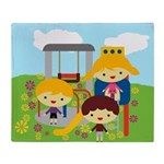 At the Park Throw Blanket