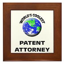 World's Coolest Patent Attorney Framed Tile