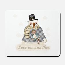 Snowman Love Mousepad