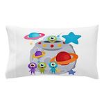 Alien Invasion Pillow Case