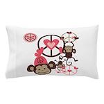 Peace Monkeys Pillow Case