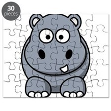 Cartoon Hippo Puzzle
