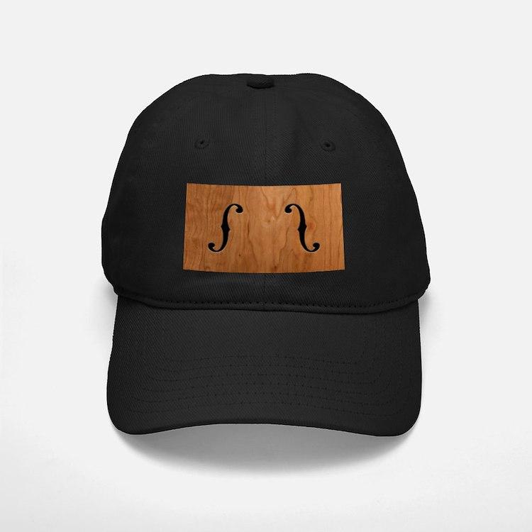 F-Holes Woodgrain Baseball Hat