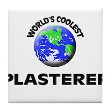 World's Coolest Plasterer Tile Coaster