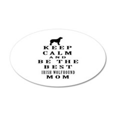 Keep Calm Irish Wolfhound Designs Wall Decal