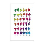 Rainbow Fingerspelled Mini Poster Print