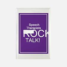 Speech Therapists Talk Rectangle Magnet