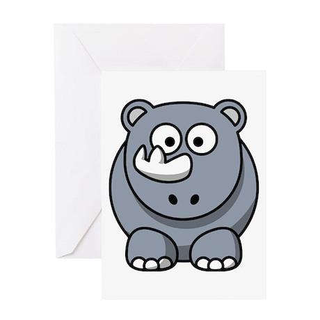 Cartoon Rhino Greeting Card