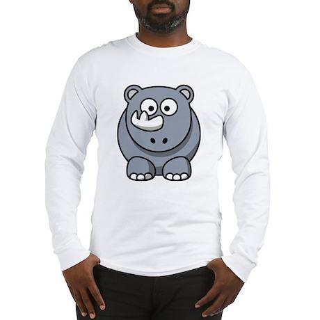 Cartoon Rhino Long Sleeve T-Shirt
