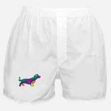 A Doxie Going in Circles Boxer Shorts