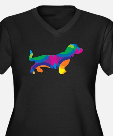 A Doxie Going in Circles Plus Size T-Shirt