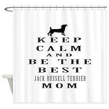 Keep Calm Jack Russell Terrier Designs Shower Curt