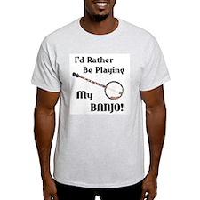 Playing My Banjo Ash Grey T-Shirt