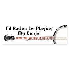 Playing My Banjo Bumper Car Sticker
