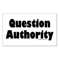 Question Authority Rectangle Decal