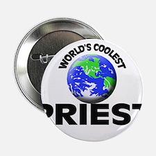 "World's Coolest Priest 2.25"" Button"