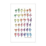 Pastel Fingerspelled Mini Poster Print