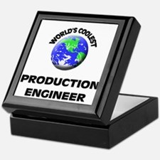 World's Coolest Production Engineer Keepsake Box