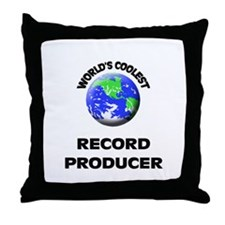 World's Coolest Record Producer Throw Pillow