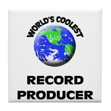 World's Coolest Record Producer Tile Coaster