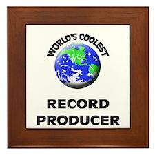World's Coolest Record Producer Framed Tile