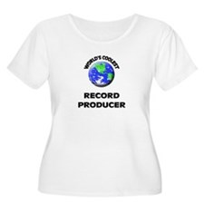 World's Coolest Record Producer Plus Size T-Shirt