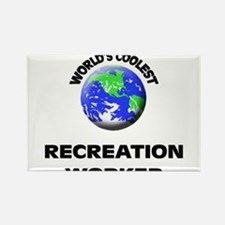 World's Coolest Recreation Worker Rectangle Magnet