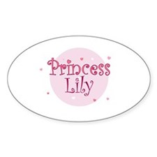 Lily Oval Decal