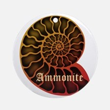 Ammonite Ornament (Round)