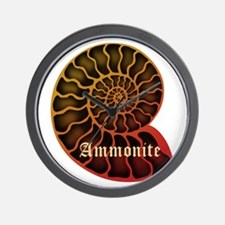 Ammonite Wall Clock