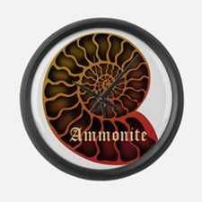 Ammonite Large Wall Clock