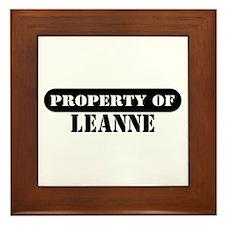 Property of Leanne Framed Tile