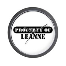 Property of Leanne Wall Clock