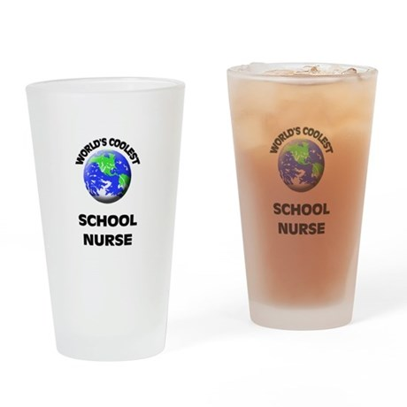 World's Coolest School Nurse Drinking Glass