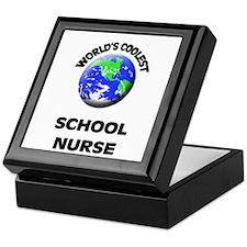 World's Coolest School Nurse Keepsake Box