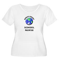 World's Coolest School Nurse Plus Size T-Shirt