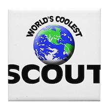 World's Coolest Scout Tile Coaster