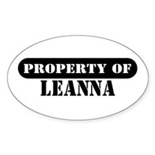 Property of Leanna Oval Decal