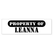 Property of Leanna Bumper Bumper Sticker