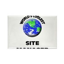World's Coolest Site Manager Rectangle Magnet
