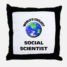 World's Coolest Social Scientist Throw Pillow