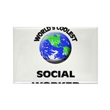 World's Coolest Social Worker Rectangle Magnet