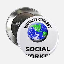 "World's Coolest Social Worker 2.25"" Button"