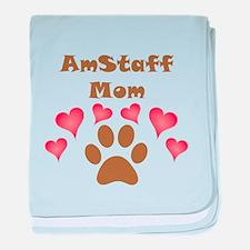AmStaff Mom baby blanket