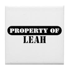 Property of Leah Tile Coaster