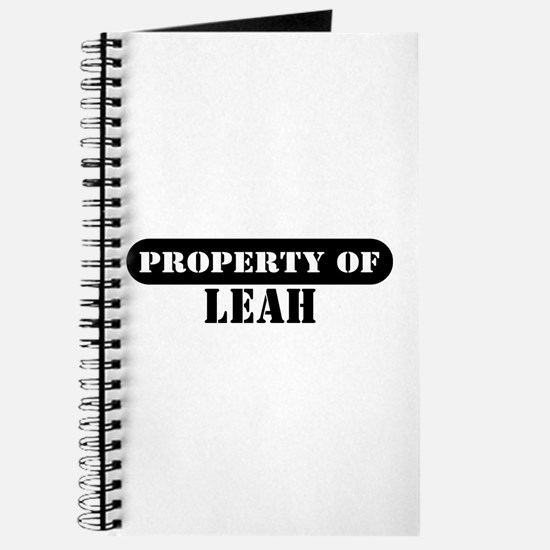 Property of Leah Journal