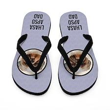 Lhasa Apso Dad Flip Flops
