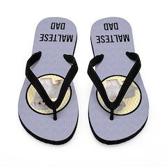 Maltese Dog Dad Flip Flops