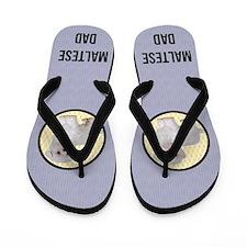 Unique Dog maltese Flip Flops